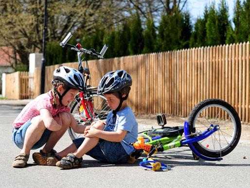 Kind Unfall mit Fahrrad