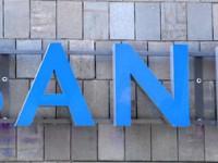 Bank Schriftzug